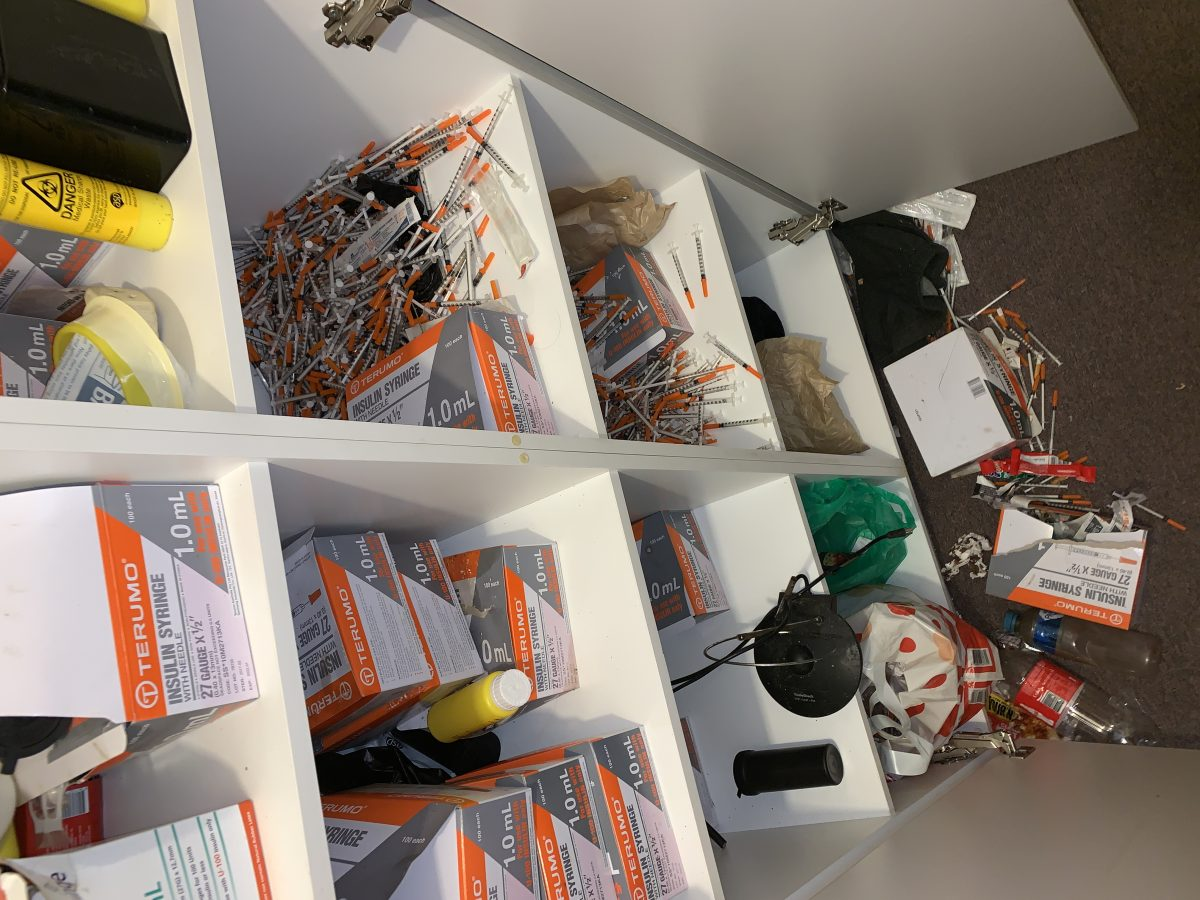 Meth Syringes storage