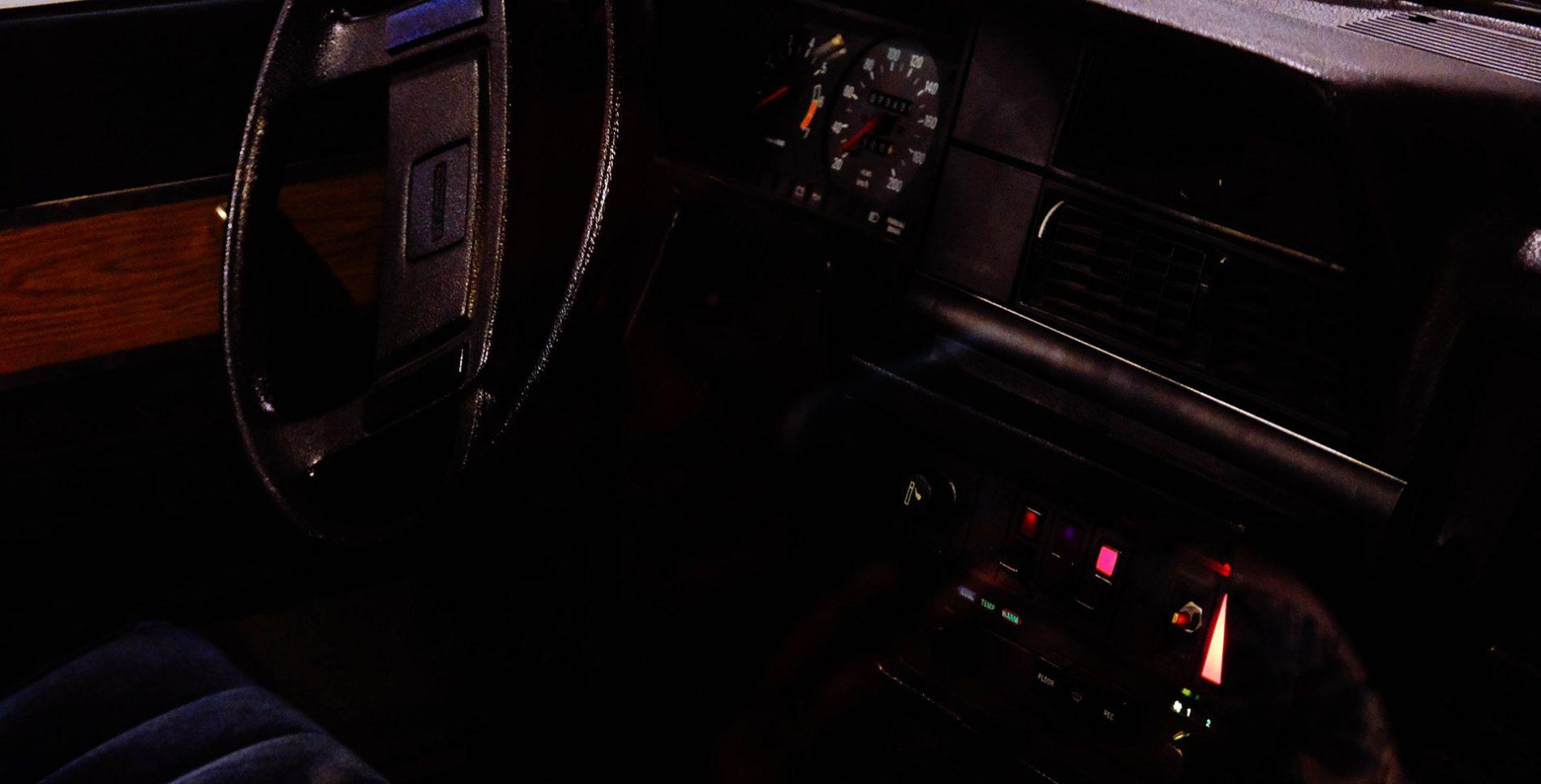 Interior of a stolen car retrieved in Australia